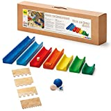 Erzi German Wooden Toy Water And Marble Run, 50.5 x 14.5 x 7.5cm