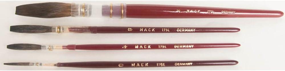 Mack Brush 179-2 #2 Brown Pencil Quill W//Plain Wood Handle