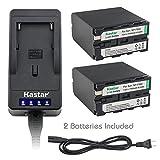 Kastar LED Super Fast Charger & Camcorder Battery X2 for Sony NP-F990 NP-F975 NP-F970 NP-F960 NP-F950 NP-F930 NP-F770 NP-F750 NP-F730 NP-F570 NP-F550 NP-F530 NP-F330 Battery and LED Video Light