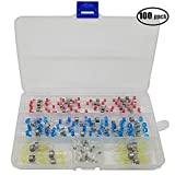 iztor 100pcs 4 Sizes Solder Seal Heat Shrink Wire Connector Kit Waterproof Connector Set Case (35Red 30Blue 25White 10Yellow)