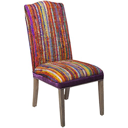Surya FL1024-5057108 Accent Chair, 50 by 57 by 108-Inch, Magenta/Sunflower/Poppy/Cobalt/Teal/Lime (Stool Storage Sunflower)