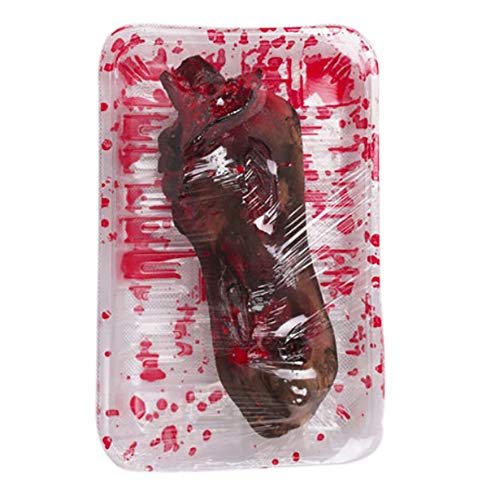 Leezo Terror Severed Bloody Simulated Body Parts Fake Hands Lunch Box for Halloween Trick or Treat Party Prop Decoration -