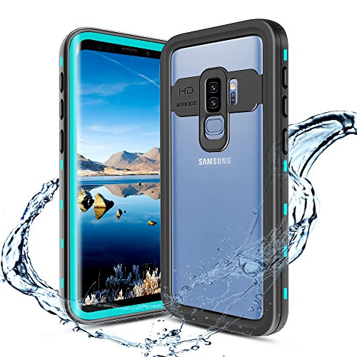 XBK Waterproof Case for Samsung S9 Plus, Full-Body Rugged Waterproof Shockproof Protective Bumper Case for Samsung Galaxy S9 Plus 2018 Release (6.2 Inch,Teal)