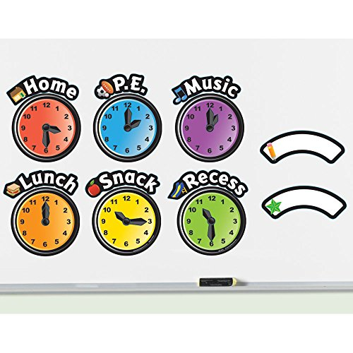 (Learning Resources Magnetic Daily Schedule Clocks)