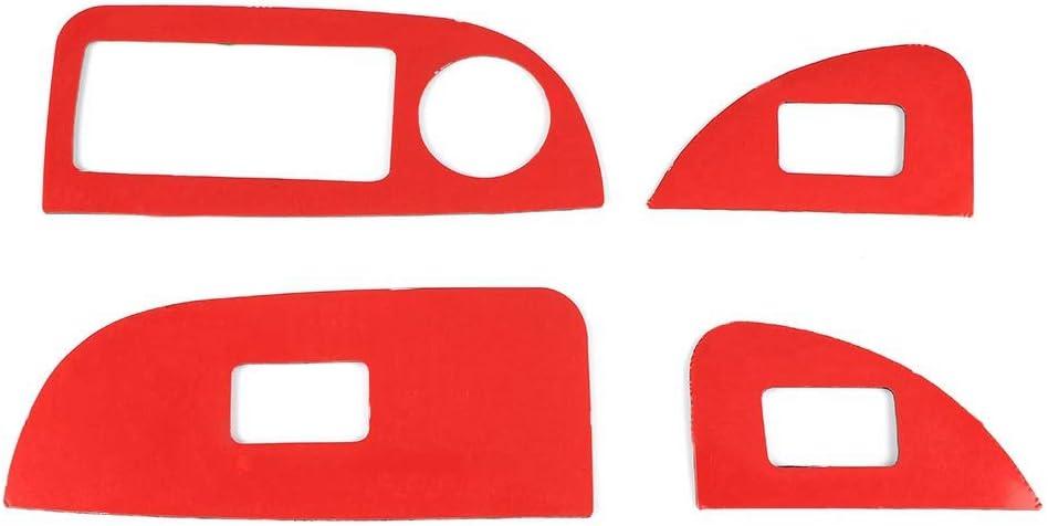 garniture de couvercle de commutateur dascenseur de contr/ôle de fen/être pour Romeo-Giulia 17-19 Qii lu Garniture de couverture de contr/ôle de fen/être en fibre de carbone