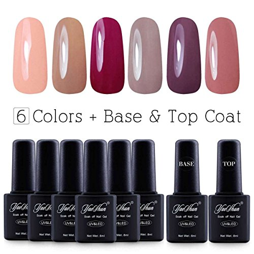 Yaoshun Brand 8ml 8Pcs/lot Soak Off UV Led Gel Nail Polish C