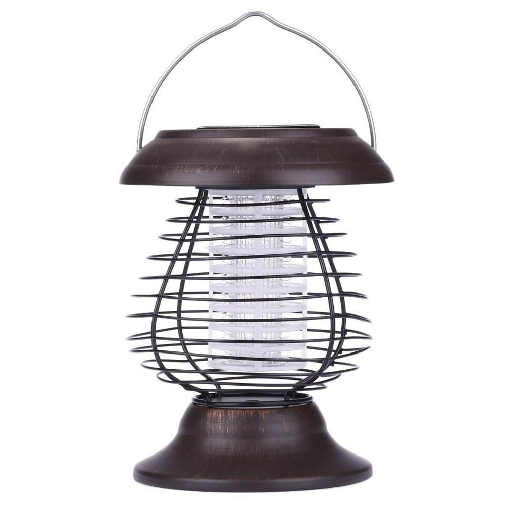 LL Solar Powered UV Bug Zapper Repellant Pest Insect Mosquito Killer LED Garden Lamp and Lantern Backyard Outdoor (1PCS) 2Watts