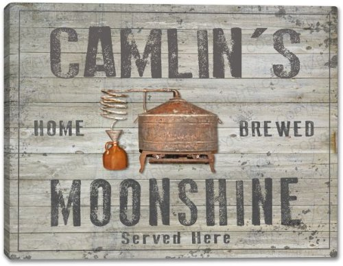 CAMLIN'S Home Brewed Moonshine Stretched Canvas Print