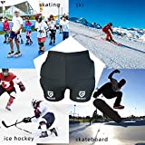 Youth/Kids Protective Pad Shorts Protector Hips for Skiing,Snowboard,Figure Skating,Skateboard Impact EVA Padded Prevent Injuries