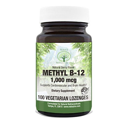 Natural Nutra Methyl B12, Natural Berry Flavor, 100 Lozenges, 1000 mcg (Eureka Buffet)