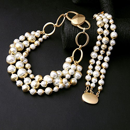 European and American fashion jewelry new rt outlets generous multi-layer pearl bracelet Ms. jewelry - Ms Of Outlet Pearl