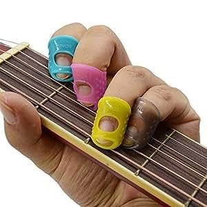 imelod large medium small size guitar fingertip protectors silicone finger guards for ukulele. Black Bedroom Furniture Sets. Home Design Ideas