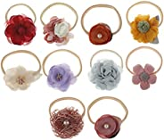 puseky 10 Pack Baby Girls Hair Clips Flowers Bows Hair Pin Hair Accessories Toddler Kids Teens