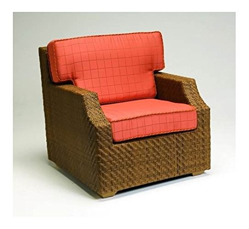 Woodard Domino Geometric Inspired Wicker Lounge Chair (Va...