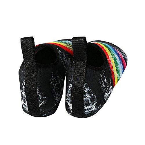 Chellysunny Scarpe Da Ginnastica Allaperto Estate Unisex Quick Dry Aqua Socks Yoga Scarpe Barefoot Nere 1
