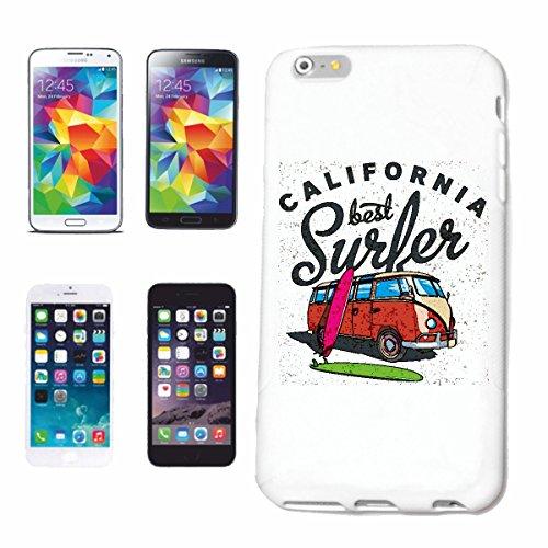 """cas de téléphone iPhone 6+ Plus """"bus de famille CALIFORNIA MEILLEURE SURFER SURFBOARD RETRO BUS USA AMÉRIQUE ÉTATS-UNIS VW SURFER SURF ENSEIGNANT"""" Hard Case Cover Téléphone Covers Smart Cover pour App"""