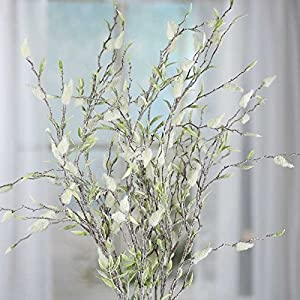 Factory Direct Craft Sparkling Frosted Artificial Pussy Willow Spray for Home Decor, Creating and Designing 76