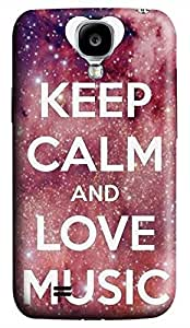 Samsung Galaxy S4 I9500 Hard Case - J Keep Calm And Love Mouse Galaxy S4 Cases