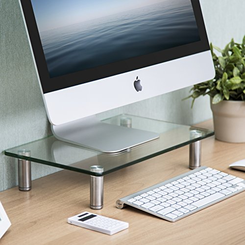 FITUEYES Clear Computer Monitor Riser Save Space Desktop Stand for Xbox One/component/flat Screen TV,DT103801GC by FITUEYES (Image #1)'