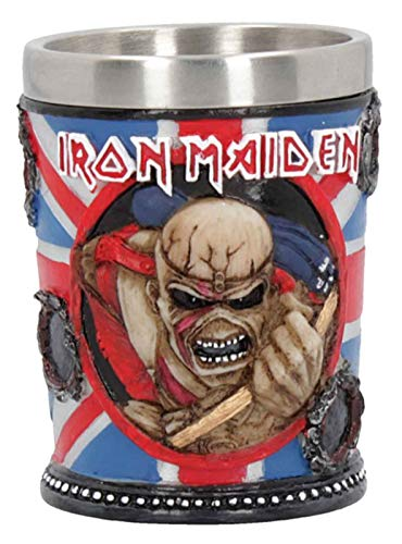 Iron Maiden Shot Glass The Trooper Eddie Classic Band Logo Official