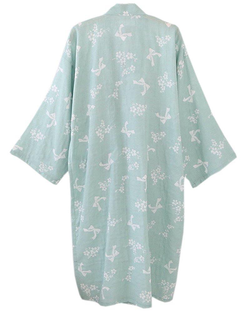 218e6017796d Women s Cotton Kimono Long Sleeve Daisy Printed Bathrobe Sleepwear at  Amazon Women s Clothing store