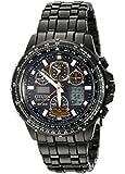 Citizen Men's JY0005-50E Eco-Drive Skyhawk Black Ion Plated Black Dial Watch