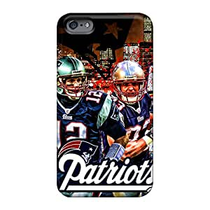 TammyCullen Apple Iphone 6 Plus Shock-Absorbing Hard Phone Cases Support Personal Customs High Resolution New England Patriots Image [xED8398xBlB]