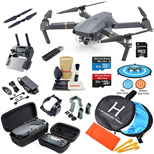 DJI Mavic PRO Drone Quadcopter with 4K Professional Camera Gimbal Bundle Kit with MUST HAVE Accessories by DJI