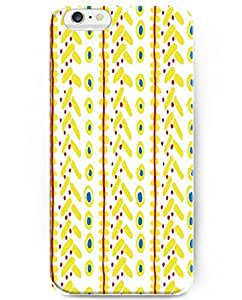 UKASE Slim Back Case Cover with Aesthetic Print Pattern For 4.7 inch iPhone 6 ( Yellow Dots Pattern )
