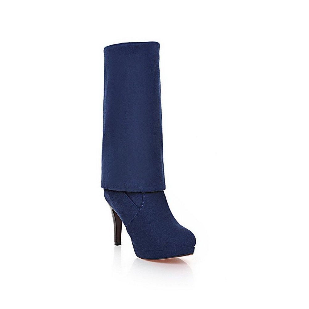 BalaMasa Womens Platform Wheeled Shoes Heel Shoes Wheeled Pull-On Imitated Leather Boots B01M12IQ4O Platform ec6bff