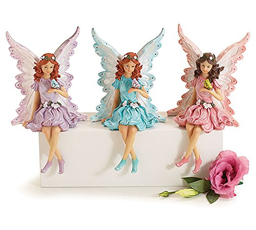 Fairy Figurine Shelf Sitter Butterfly 1 Random Color Shipped: Aqua, Pink or Lavender