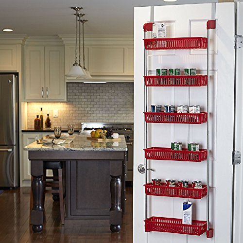This over-the-door hanging spice rack helps you organize your spices and other household essentials.
