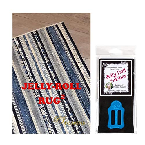 - Jelly Roll Bundle: RJ Designs Jelly Roll Rug 2 Squared Pattern and Pauline's Quilters World Jelly Roll Sasher Tool