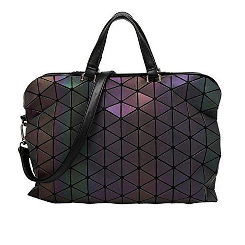 CY Bag Femmes En Vrac Porte-documents Banlieue Poche Diagonale Sac Lumineux Sac Géométrique Onecolor