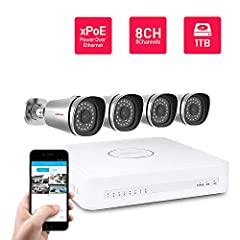 Overview:   Note: This KIT use specific Simplified Power Over Ethernet(xPoE) technology, which is different with standard PoE standard like 802.3af or 802.3at. Besides Foscam FI9800XE included in this kit, other IP cameras which support ONVIF...