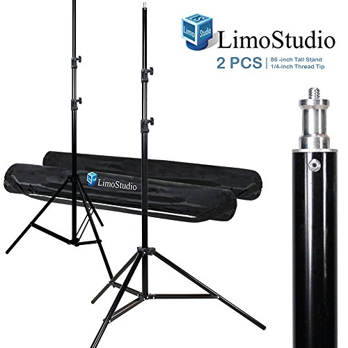LimoStudio 2Pcs 7 ft Photo Studio Light Stands for Photography and Video Lighting with 2Pcs Convenient Carry Case, AGG888 by LimoStudio