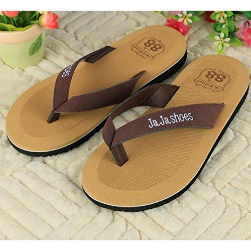 Sunfei ®2016 Zomer Heren Slippers Slippers Heren Strand Sandalen Zomer Indoor & Outdoor Slippers Bruin