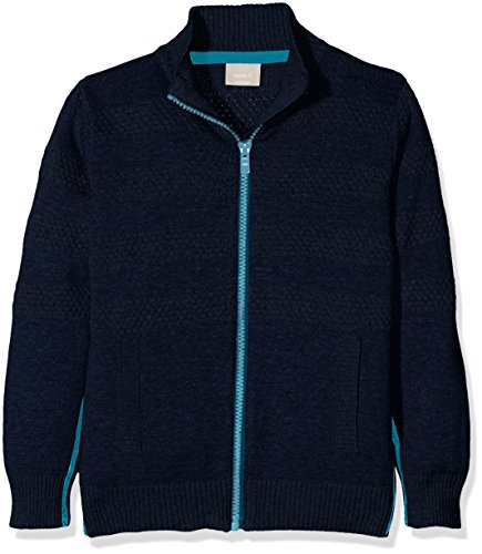 NAME IT Jungen Strickjacke Nitbelton Knit Cardigan Nmt Birth, Blau (Dress Blues), 128 (Herstellergröße: 122-128)