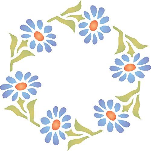 Gerber Daisy Wreath Stencil - (size 3.25