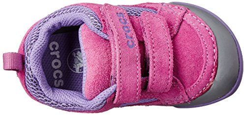 crocs Dawson Hook & Loop Unisex-Kinder Sneakers Beige (Wild Orchid/Charcoal)