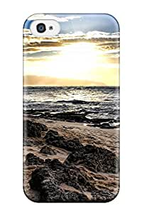 Top Quality Protection Beach Earth Case Cover For Iphone 4/4s Sending Free Screen Protector