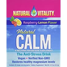 Natural Vitality Natural Calm Anti Stress Drink 30 count Raspberry Lemon flavor