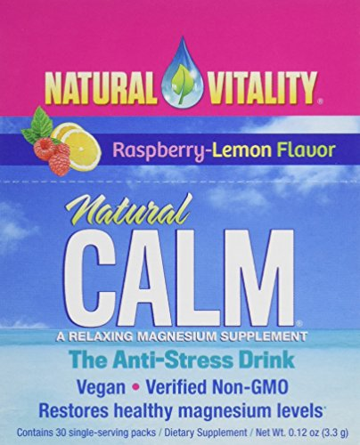 Calm Mama Raspberry (Natural Vitality Natural Calm Anti Stress Drink 30 count Raspberry Lemon flavor)