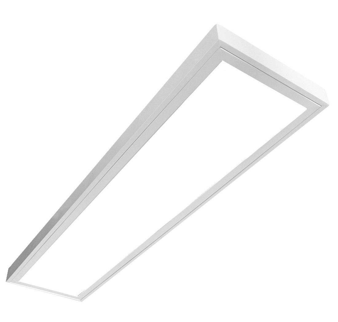 LED Panel LUNA 54W 3x18W LED Rasteranbauleuchte B/ürobeleuchtung Deckenleuchte 120cm LED Deckenleuchte Anbau Leuchte neutralwei/ß B/üroleuchte T8 Prisma, 4000K