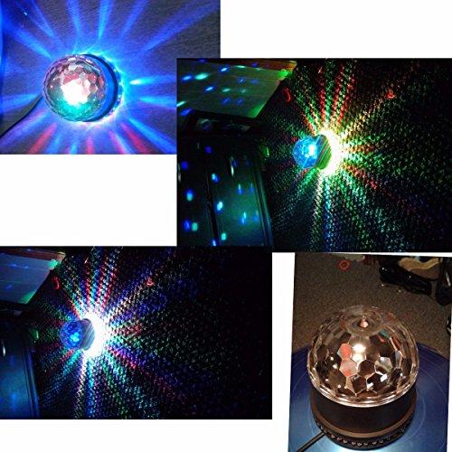 Disco Ball Light, GLISTENY DJ Disco Party Lights 7 Color