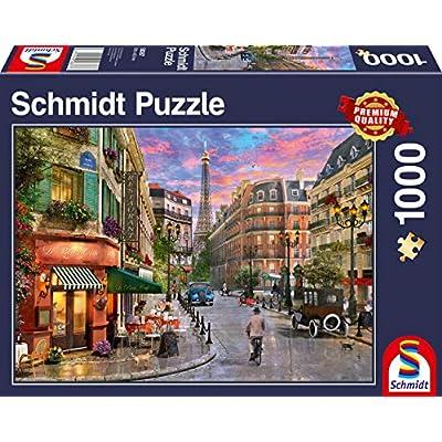 Schmidt Spiele 58387 Puzzle Da 1000 Pezzi Soggetto Strada Sulla Torre Eiffel