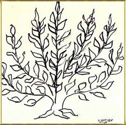 ポスター アンリ マティス 低木 1951年 リプロダクション 額装品 アルミ製ベーシックフレーム(ゴールド) B00LCRINVS ゴールド ゴールド