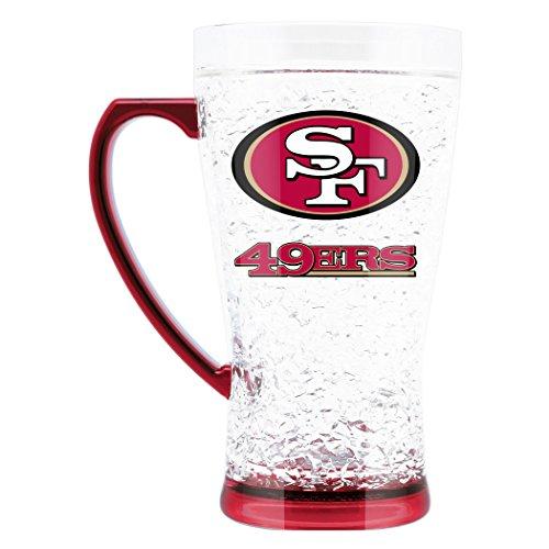 - NFL San Francisco 49Ers 16oz Crystal Freezer Flared Mug