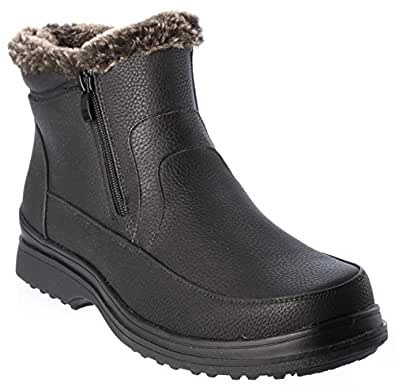 Amazon.com: Hiverix rusi02 Mens Winter Boots Fur Lining