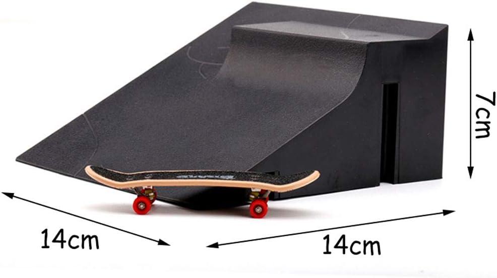 Lankater Formation Jeux Conseil Finger Patinage avec Ramp Parties Piste Enfants Jouets Parc Cadeau Jouets Skateboard Mini Fingerboard